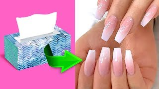 5 minutes crafts/15 CRAZY NAIL HACKS EVERY GIRL SHOULD TRY