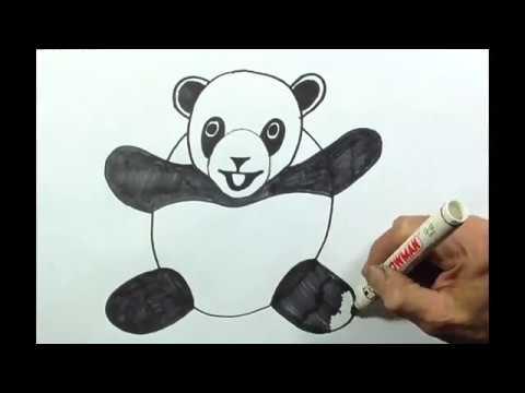 35 Ide Gambar Sketsa Hewan Panda Tea And Lead