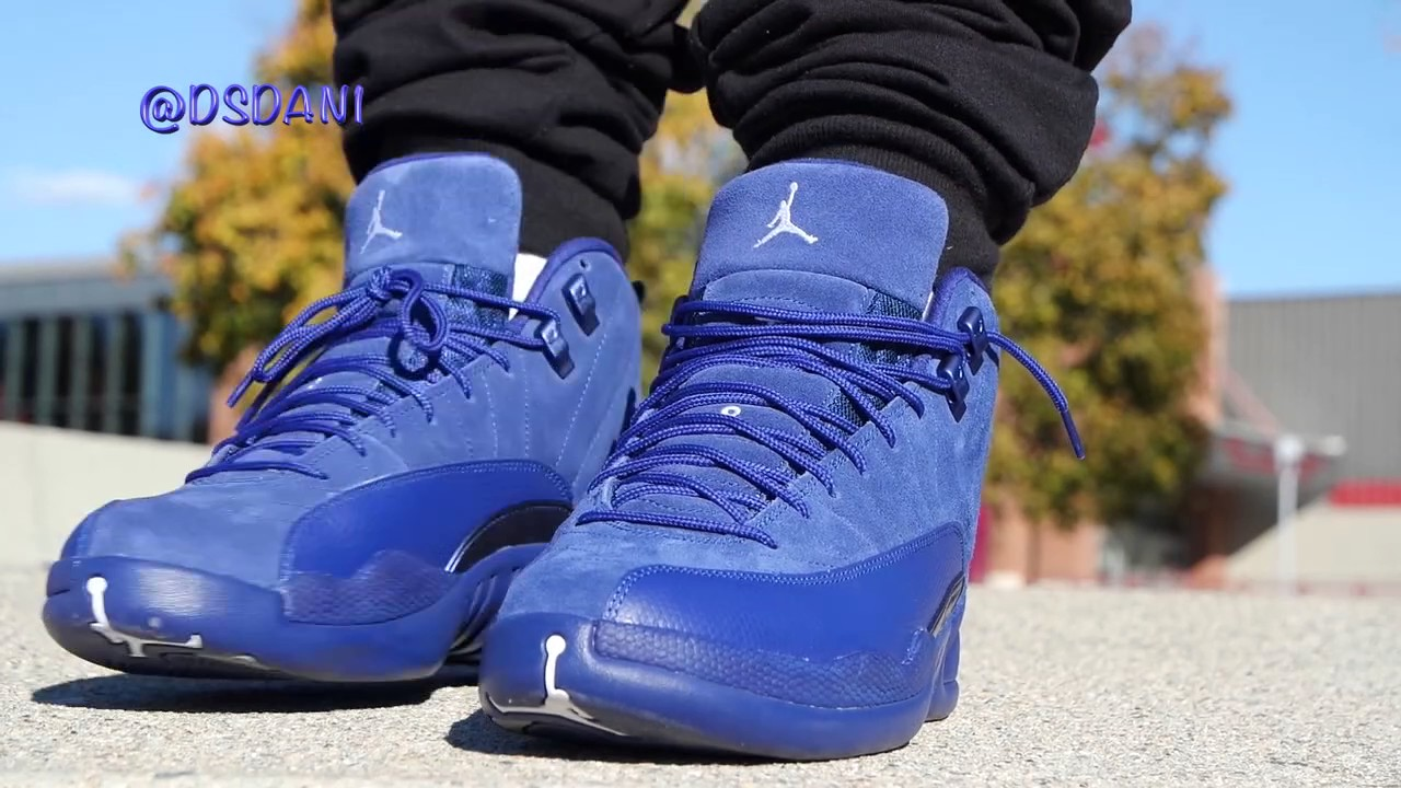 aa7fe48ccb4 AIR JORDAN 12 DEEP ROYAL BLUE