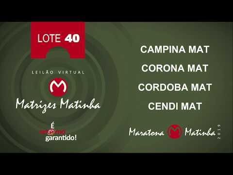 LOTE 40 Matrizes Matinha 2019