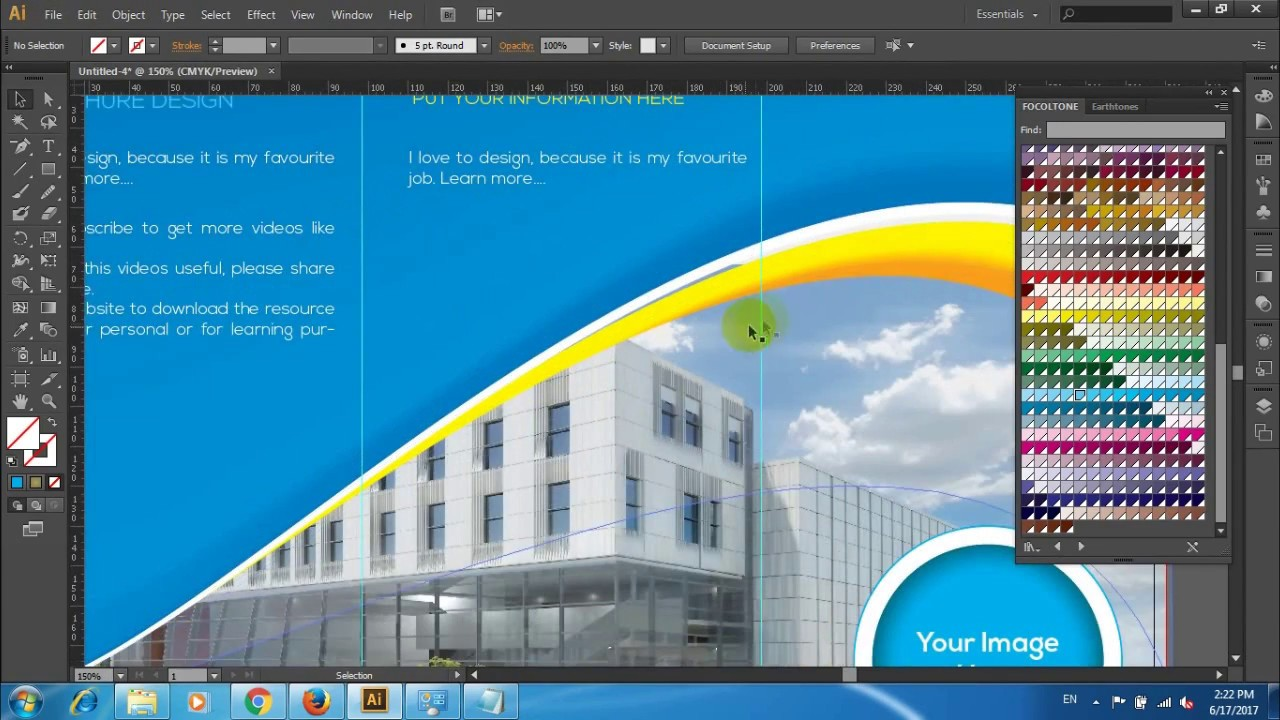 how to design a trifold brochure - YouTube