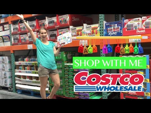 Costco Shop With Me for Back To School Supplies & More Super Fun Things!