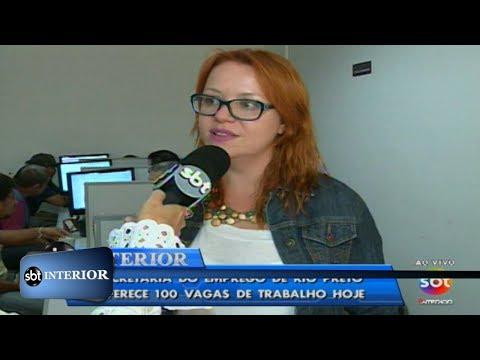 Rio Preto: Secretaria do Emprego oferece mais de 100 vagas de trabalho