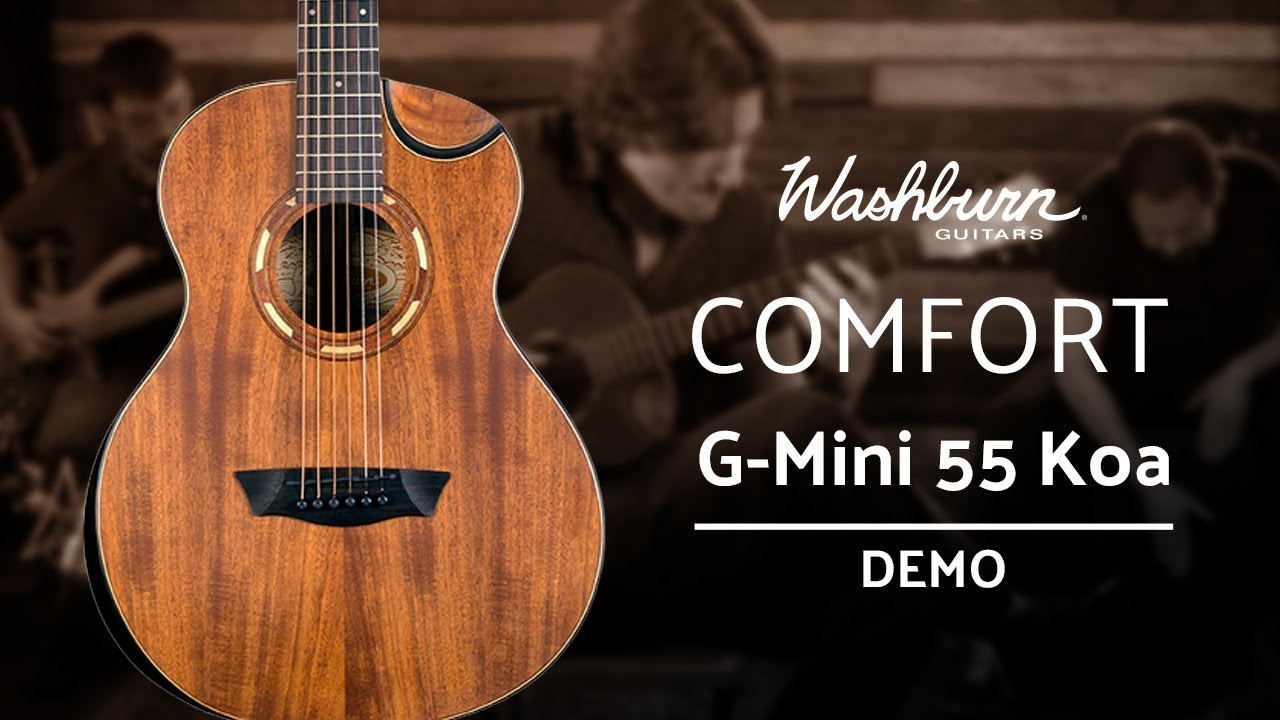 Travel Acoustic Guitar Demo: Washburn Comfort G-Mini 55 Koa