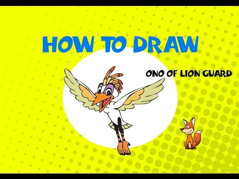 How to draw Ono from the Lion Guard - STEP BY STEP GUIDE - DRAWING  TUTORIAL GUIDE
