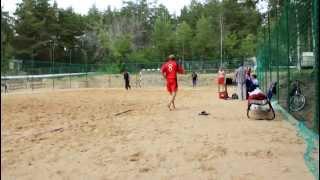 Пляжный гандбол 2011 команда Молния бьет пенальти