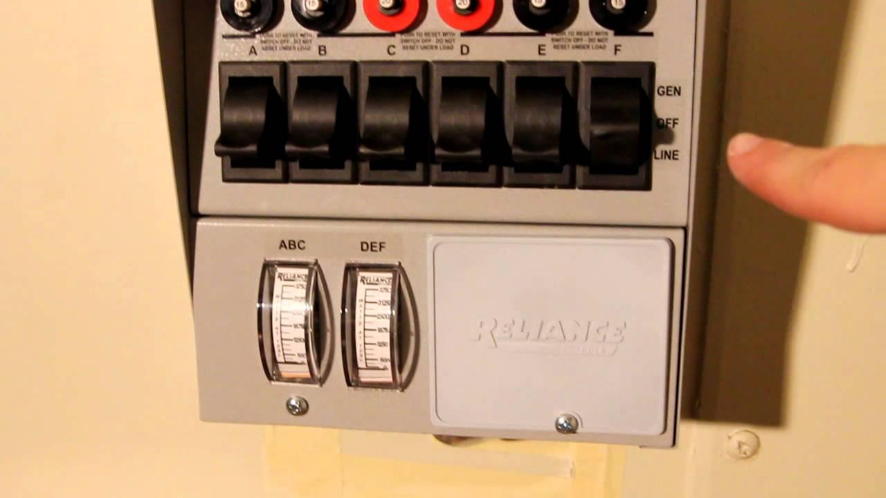 Installing A Reliance Controls Pro/Tran 6-Circuit 30 Amp