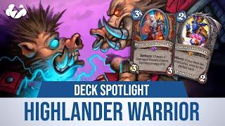 HIGHLANDER WARRIOR! | Deck Spotlight | Tempo Storm Hearthstone [Saviors of Uldum]
