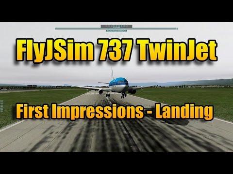 FLYJSIM 737 TWINJET - LANDING IN GENEVA