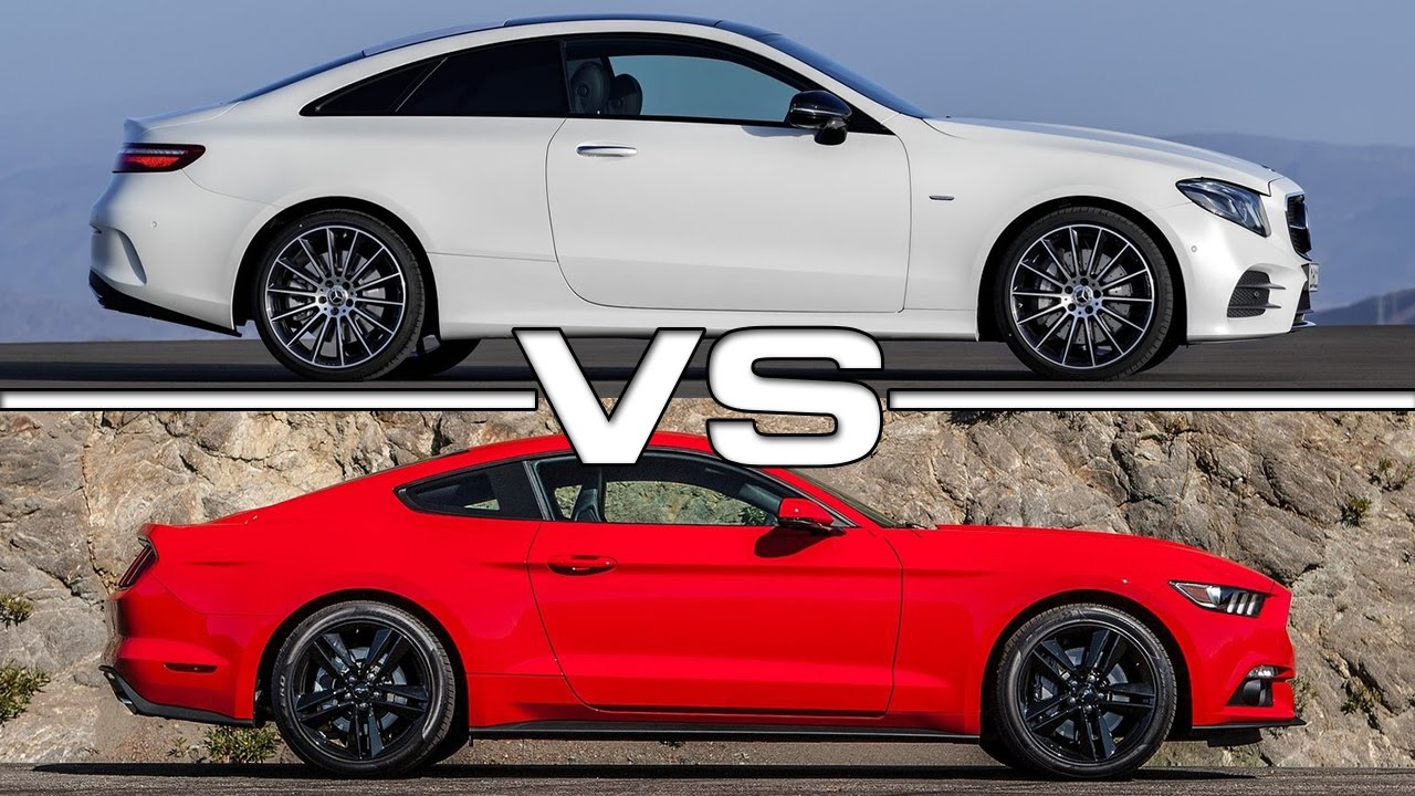 2018 mercedes e class coupe vs ford mustang ecoboost youtube. Black Bedroom Furniture Sets. Home Design Ideas