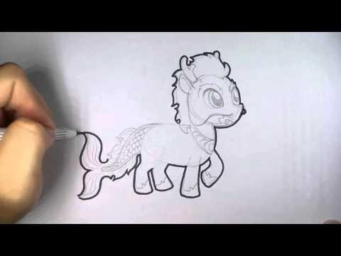 ม้านิลมังกร My little pony วาดการ์ตูน กันเถอะ สอนวาดรูป การ์ตูน