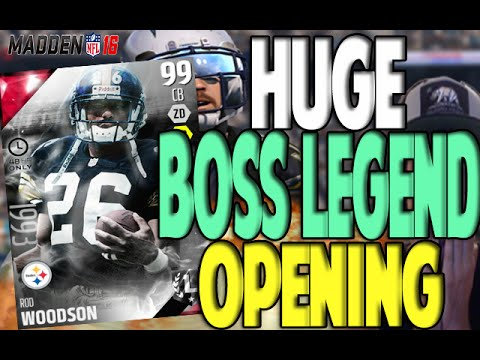 INSANE BOSS ROD WOODSON!! HUGE BOSS REDZONE PACK OPENING | MADDEN 16 ULTIMATE TEAM PACK OPENING