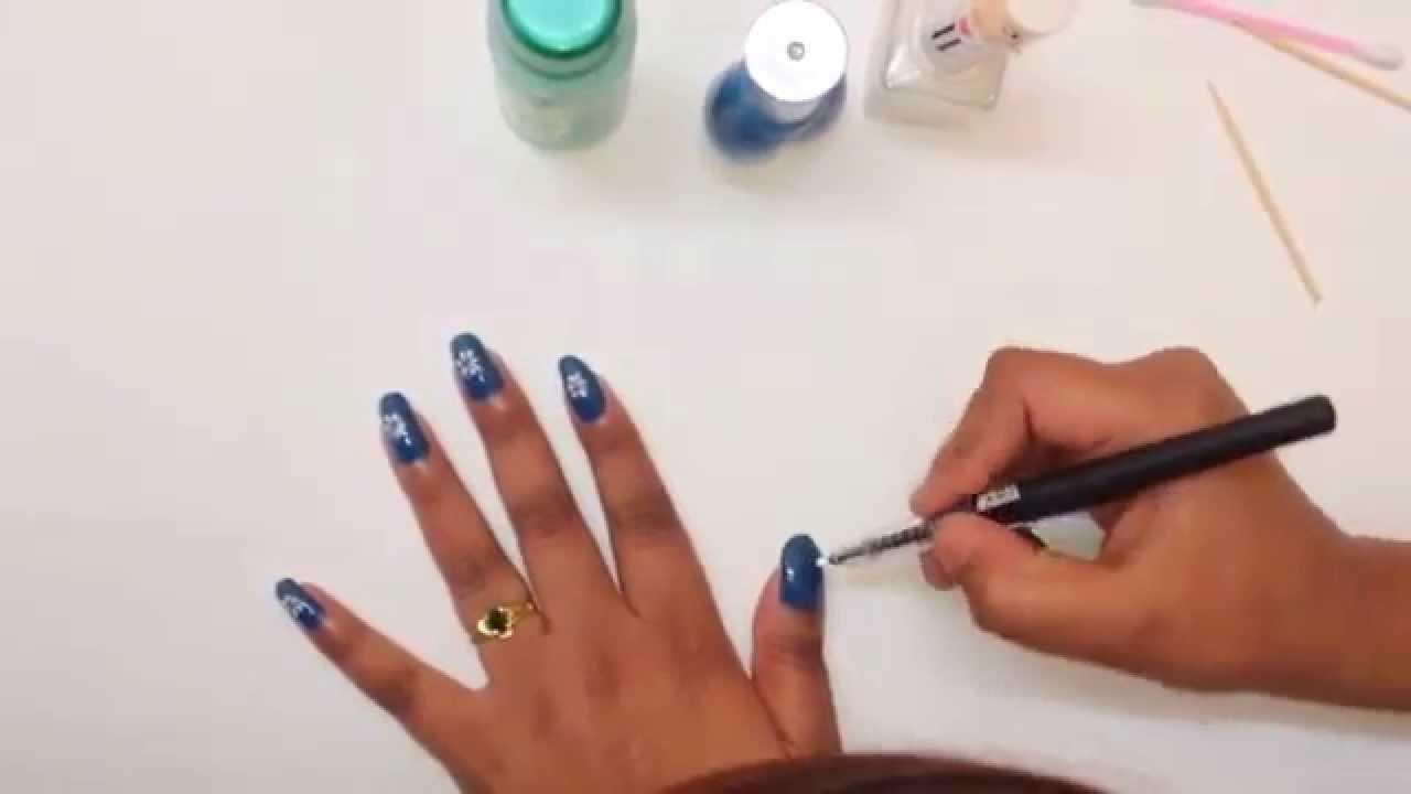 Nail Art with Home / No Tools - Basic Design for Beginners ( 3 min ...