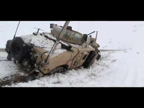 Afghanistan - U.S. Marines Convoy Stuck in Snow