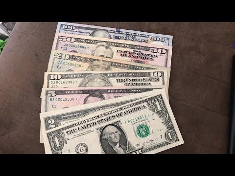 Valor de los billetes con estrella de $1,$2,$5,$10,$20,$50,$100