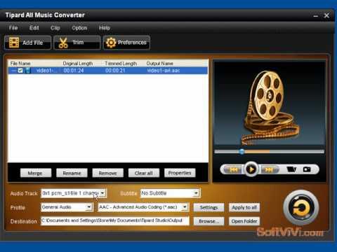 Convert musicTipard All Music Converter