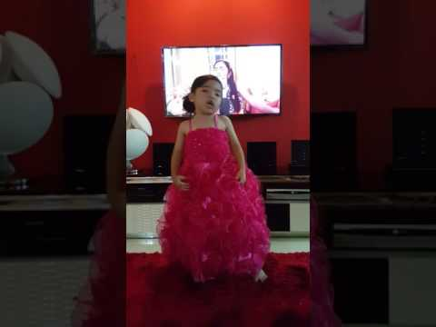 Dangerous Woman By Ariana Grande (cover by 4 year old Tiara Sabrina)