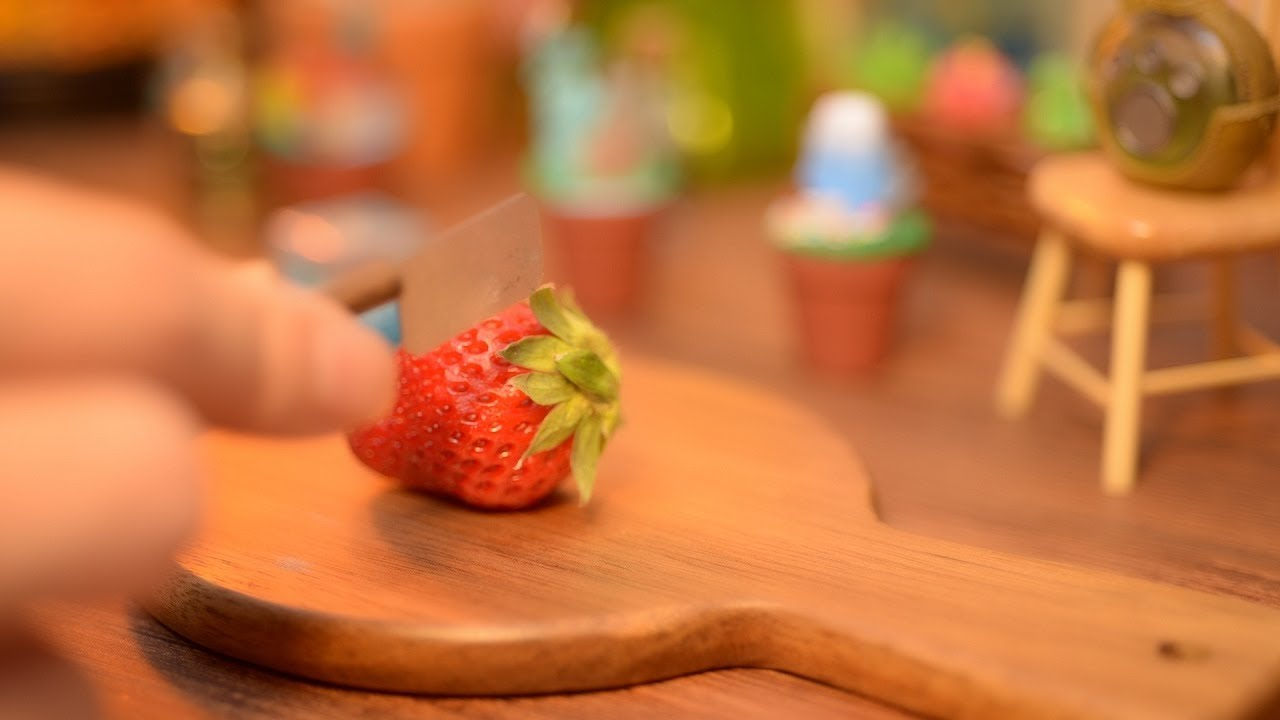 Mini food for chinchilla. Stop motion cooking. ASMR. Pet.