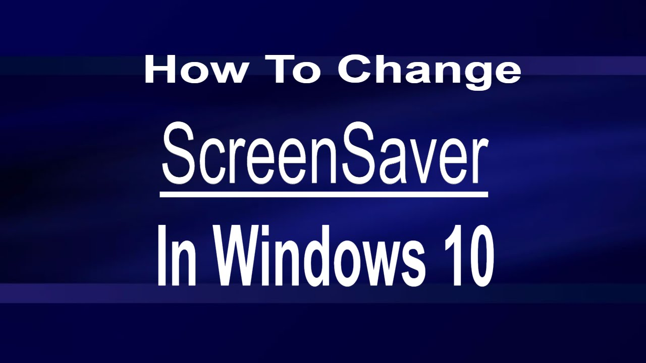 Screensavers for windows 10 change bing images for Change windows