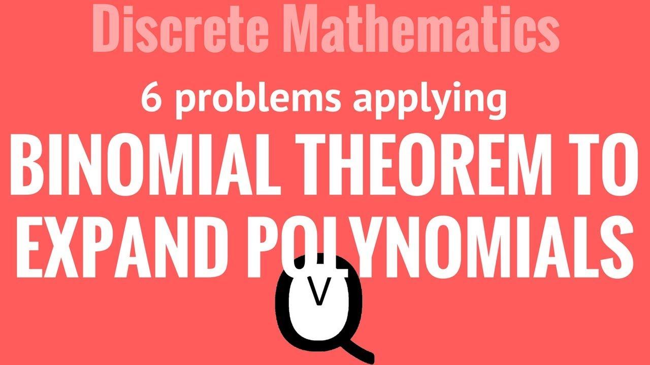 worksheet Binomial Theorem Worksheet Pdf expanding polynomials using binomial theorem guided practice youtube practice