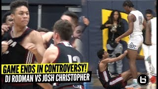 Josh Christopher vs Dennis Rodman Jr ENDS IN CONTROVERSY!! Josh vs DJ CRAZY BATTLE!