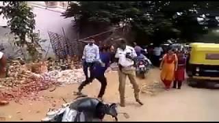 Shocking!! Man Beating Police in Public