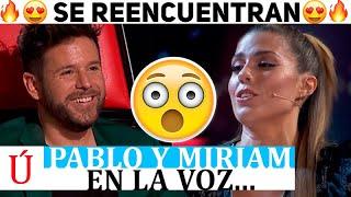 ¡Wow! La reacción de Pablo López al ver a Miriam en La voz