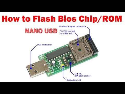 NANO USB BIOS Programmer - How to flash Bios Chip - YouTube