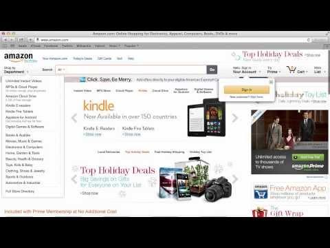 วิธีการสมัครสมาชิกเว็บไซต์ Amazon.com