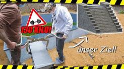 MASSIV schwere POOL Treppen bauen (feat. Muskeln aus Stahl)