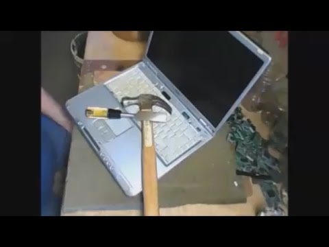 Scrapping a laptop for gold & silver scrap