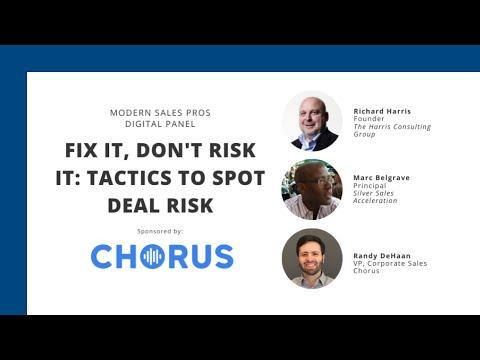 Fix It, Don't Risk It: Tactics to Spot Deal Risk