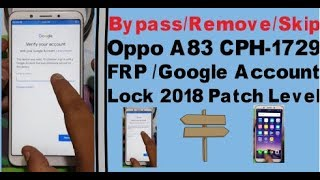 Oppo a 83 pattern lock frp lock remove how to bypass