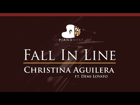 Christina Aguilera - Fall In Line Ft. Demi Lovato - HIGHER Key (Piano Karaoke / Sing Along)