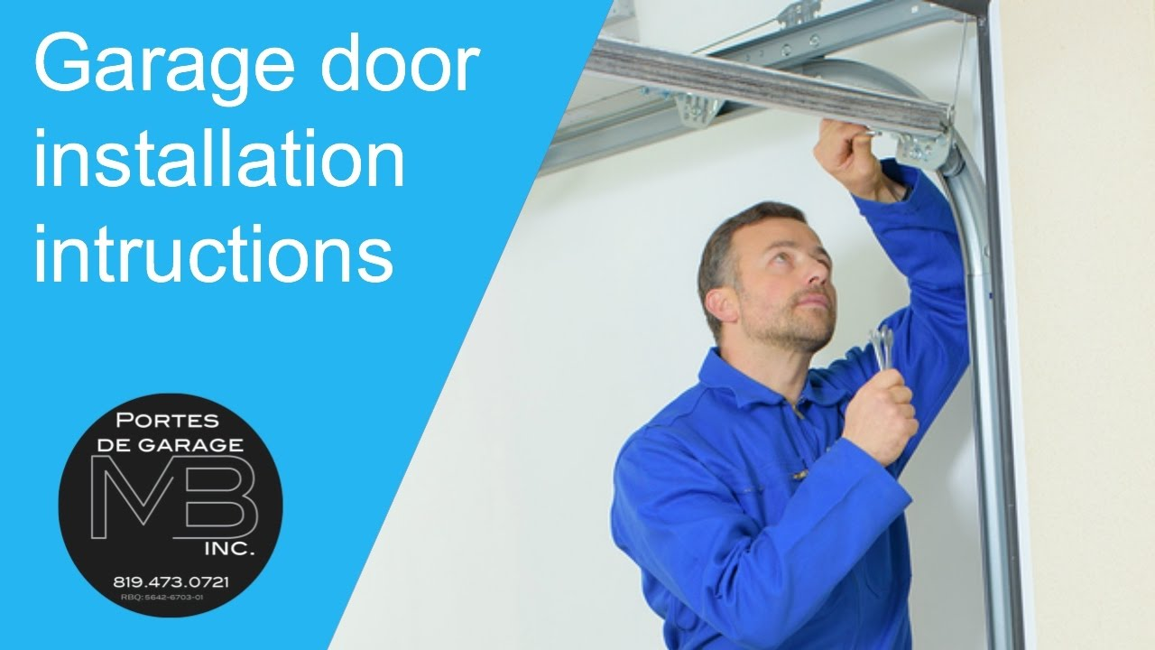 Installation guide for a garage door garex youtube - Guide installation porte de garage ...