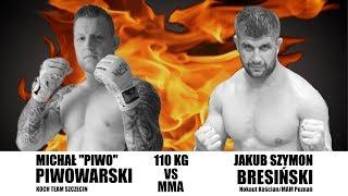 """West Fighting MMA 3 - Piwowarski """"Piwo"""" - Bresiński - MMA kat. do 110 kg"""