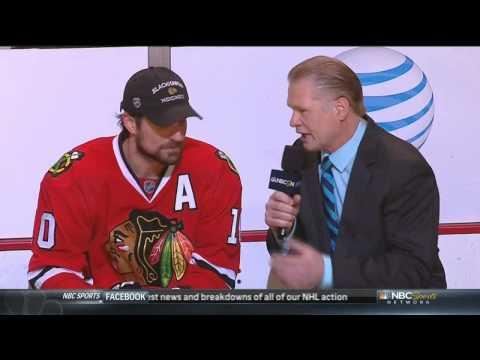 Patrick Sharp post game interview June 1 2013 LA Kings vs Chicago Blackhawks NHL Hockey
