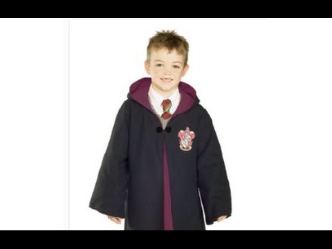 Rubies Costumes Deluxe Harry Potter Childu0027s Costume Robe with Gryffindor Emblem Review  sc 1 st  YouTube & Rubies Costumes Deluxe Harry Potter Childu0027s Costume Robe with ...