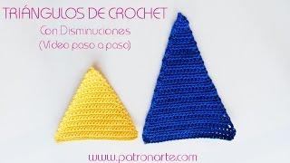 Triangulos de Crochet Parte 1