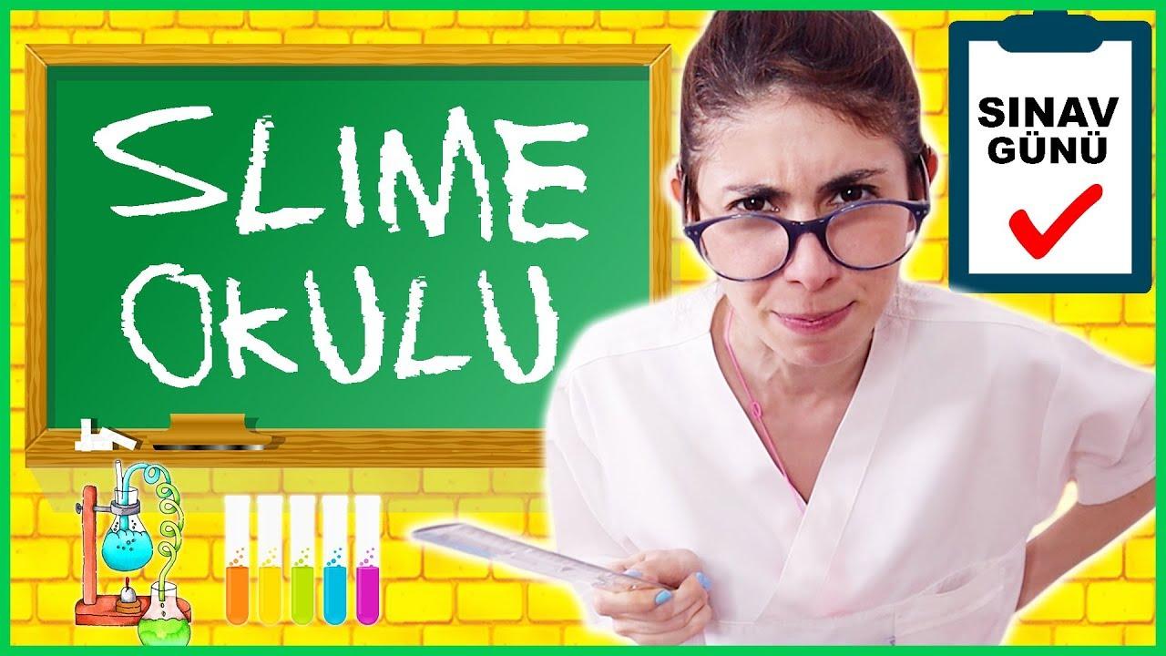 Slime Okulu Öğretmen Öğrenci Okulda Sınav Slaym Nasıl Yapılır Dila Kent