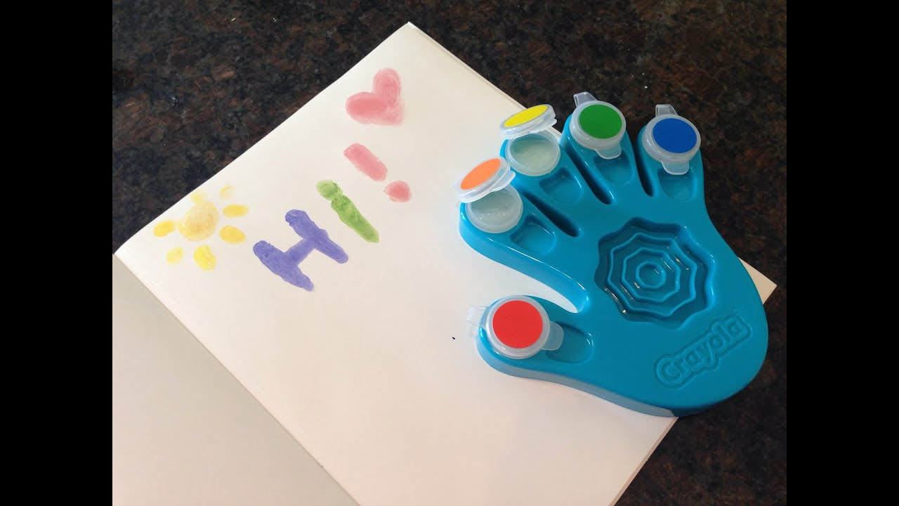crayola color finger paints review