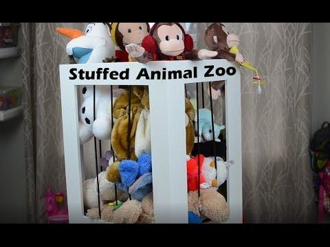 DIY Stuffed Animal Zoo Cage Organizer #woodproject #RocklerPlywoodChallenge