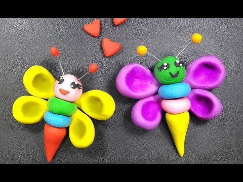 Clay Toys Making For Kids How To Make Butterfly From Clay
