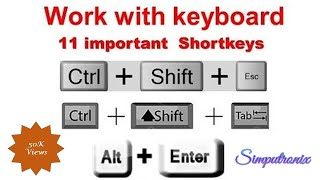 Keyboard Shortcuts || Keyboard Tutorial in Hindi || Keyboard Guide || work with Keyboard - Part2