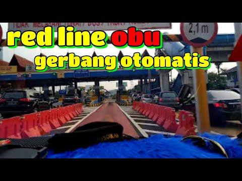 Bayar Tol melalui  pintu OBU di Gerbang Tol Cengkarang
