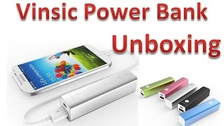 Vinsic Tulip 3200mAh Power Bank Unboxing Battery Charger Pack