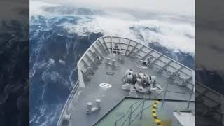 Horrible but Amazing footage of Storm in Atlantic ocean,  2017