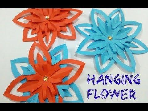 DIY Paper Hanging Flowers 2019