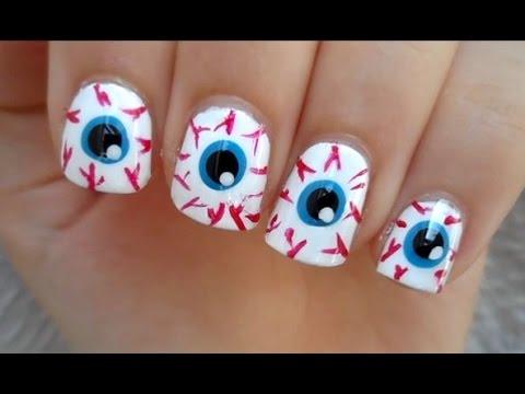 eye ball nails - halloween nail