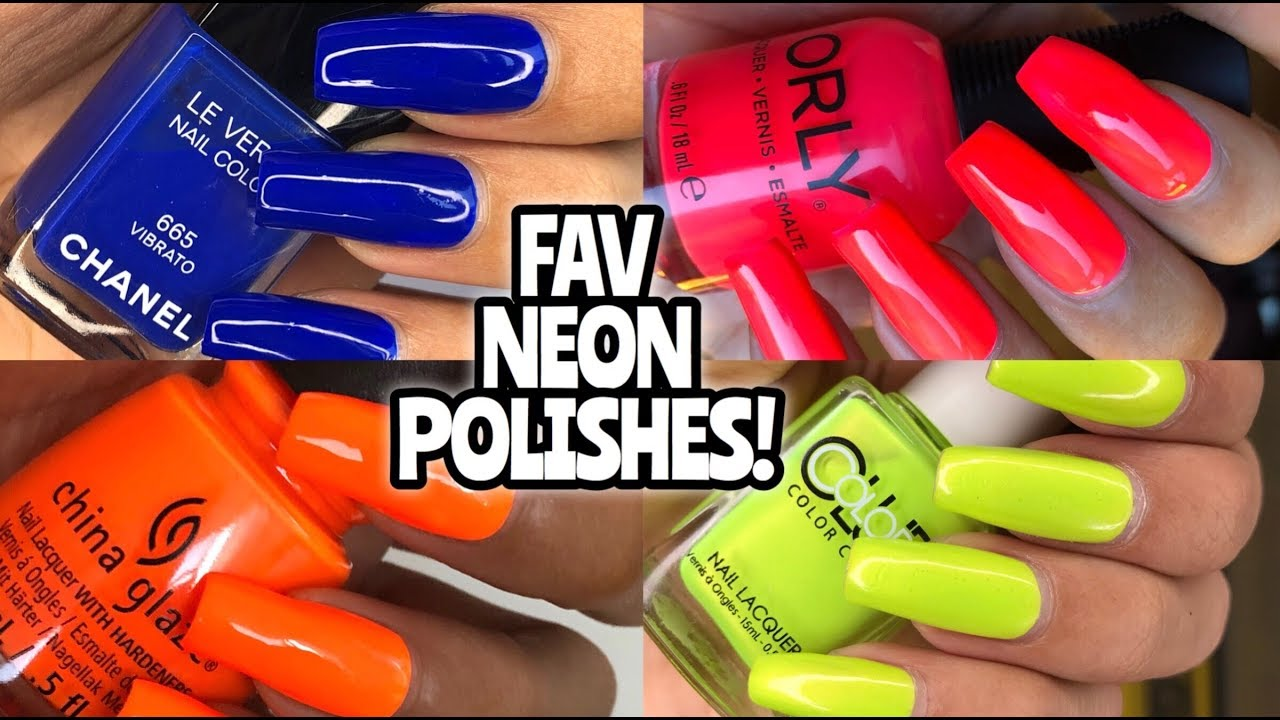 FAV NEON NAIL POLISHES! China Glaze, Color Club, Louboutin, Orly ...